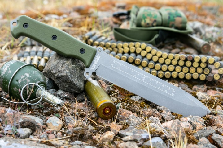 Survivalist X AUS-8 StoneWash Green